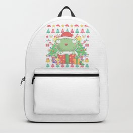 Frog Ugly Christmas Backpack