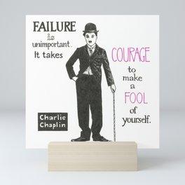 Charlie Chaplin Mini Art Print