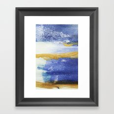 PAINTED WITH THE BLUES Framed Art Print