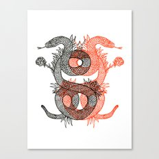 Two Serpents Canvas Print