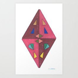 Rough Cut Art Print