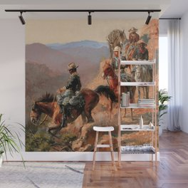 """Frederick Remington Western Art """"With the 10th Cavalry"""" Wall Mural"""