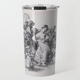 El vito (The Andalusian dance),that. 1825-1826 Travel Mug