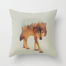 Wolf In The Woods #2 Throw Pillow