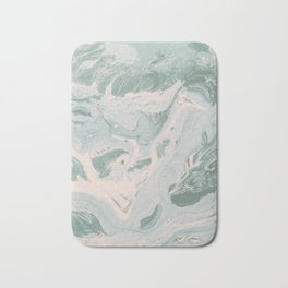 Pale green and pink marble pattern Bath Mat