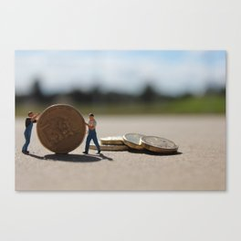 Tiny Bankers Canvas Print