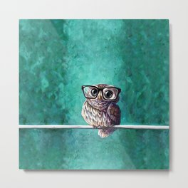 Intellectual Owl Metal Print