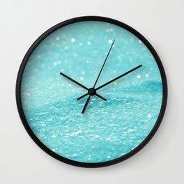 Glitter Turquoise Wall Clock