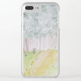 Walk Through the Woods Clear iPhone Case