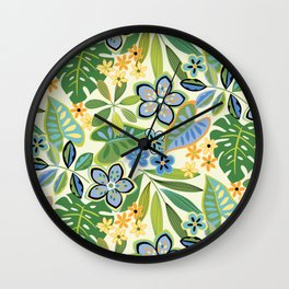 Troical Floral Toss Wall Clock