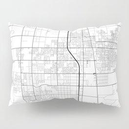 Minimal City Maps - Map Of Lancaster, California, United States Pillow Sham