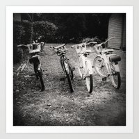 bicycles Art Prints featuring Bicycles  by Vinnie Ruddy