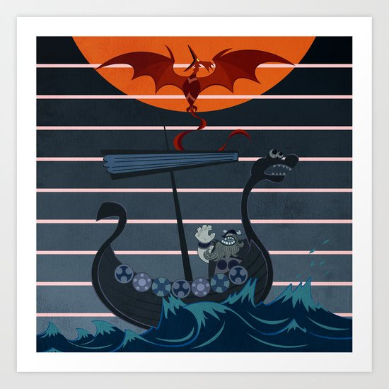 The Viking Art Print