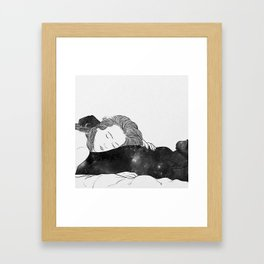 The feeling is indescribable Framed Art Print