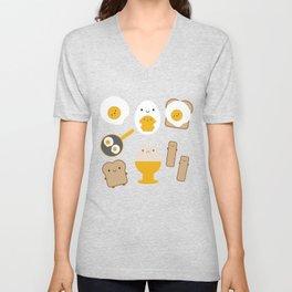 Kawaii Eggs For Breakfast Unisex V-Neck