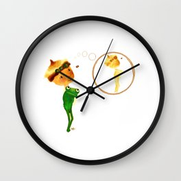 Think... coffee stain! Wall Clock