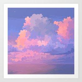 Candy Sea Art Print