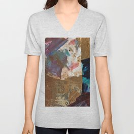 Colours of the wind, and gold. Unisex V-Neck