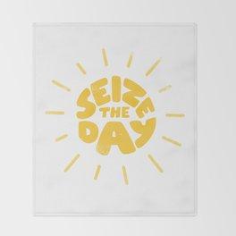 Seize the day Throw Blanket