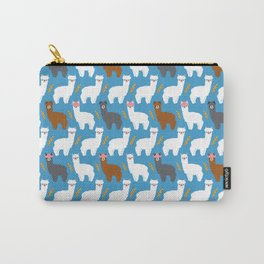 Pink Hair Alpacas I Carry-All Pouch