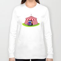 clown Long Sleeve T-shirts featuring Clown by Maestral