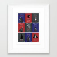 literary Framed Art Prints featuring WINTER SOLDIER LITERARY QUOTES by Samantha Panther