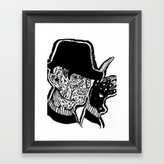 One, Two Freddys coming for you. Framed Art Print