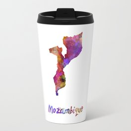 Mozambique in watercolor Travel Mug