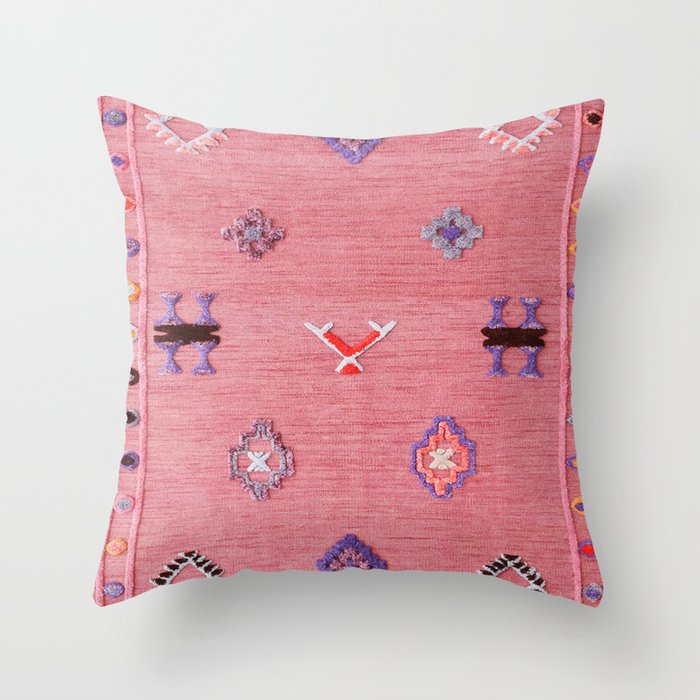 Pink Oriental Traditional Boho Moroccan Style Design Artwork Throw Pillow By Mr0frankenstein Society6