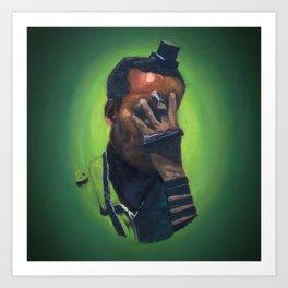 Untitled (soldier, green) Art Print