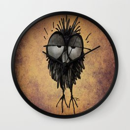 Sleepy Owl Wall Clock