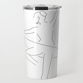 Minimal Drawing of Ballerina Travel Mug