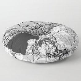 Shenzhen Map Gray Floor Pillow