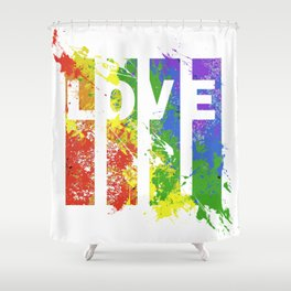 LOVE/COLOR Shower Curtain