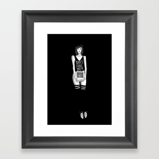 Can't chat With Me Framed Art Print