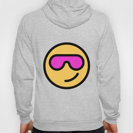 Smiley Face   Cool Sunglasses Happy Face   Cute Pink Glasses Hoody