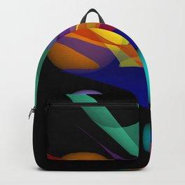 waves on black -03- Backpack