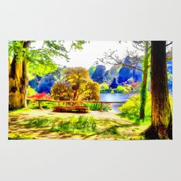 A lakeside view.(Painting) Rug