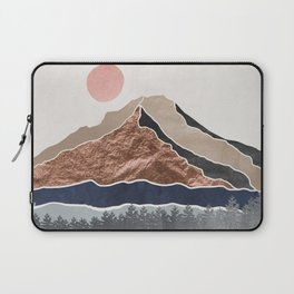 Mount Hood // Daylight Art Print Oregon Stratovolcano Rose Gold Silver Blue Cream Black Mountain Laptop Sleeve