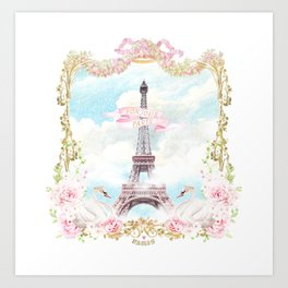 Paris in the Snow Art Print