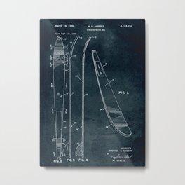 1963 - Concave water ski patent art Metal Print