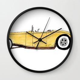 Great Gatsby Yellow Roadster Wall Clock