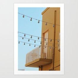 The Lights of Polignano Art Print