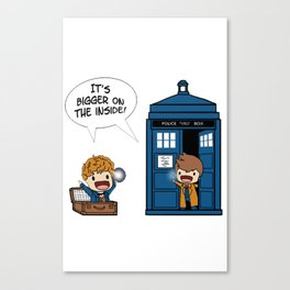 Doctor Who - It's Biggers on the inside Canvas Print