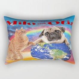 Milo And Otis Take On The World Rectangular Pillow