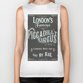 Londons famous piccadilly circus Biker Tank