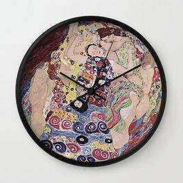 THE VIRGINS - GUSTAV KLIMT Wall Clock