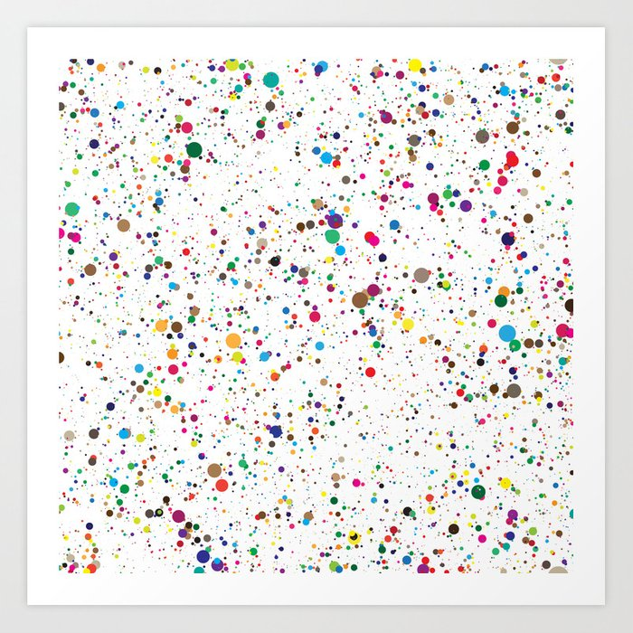 Confetti Paint Splatter Kunstdrucke