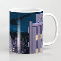mega man Mugs featuring Mega Man Title Screen by ansimuz