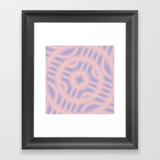 Spacial Coordinates in Rose Quartz and Serenity Framed Art Print